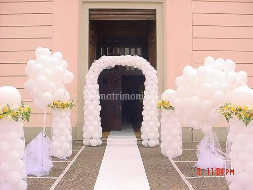 Arco e bouquet di palloncini