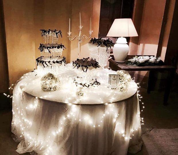 Il tavolo bomboniere