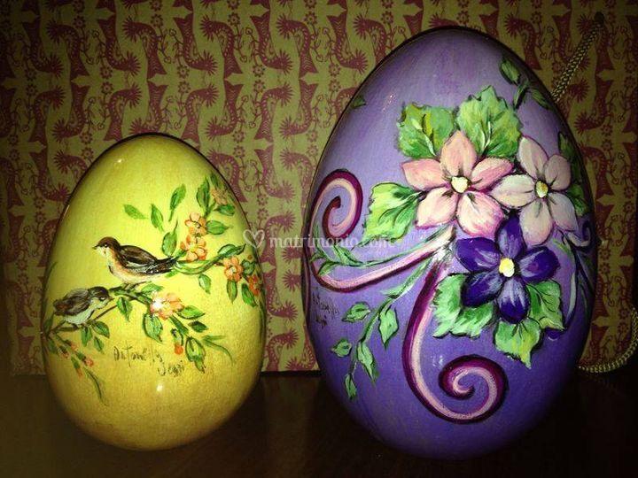 Uova Di Ceramica Dipinte A Mano.Uova Di Ceramica Dipinte Di Le Creazioni Artistiche Di Antonella