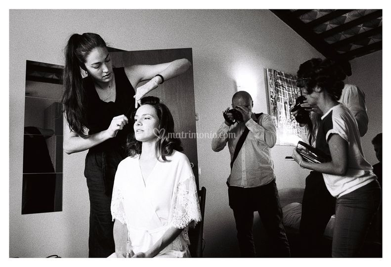 Make-up e hairstyle Backstage