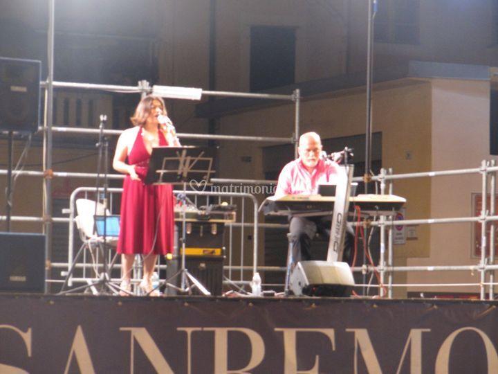 Durante un Concerto a Sanremo