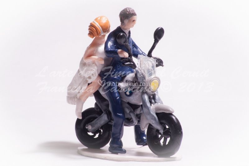 Cake topper moto BMW