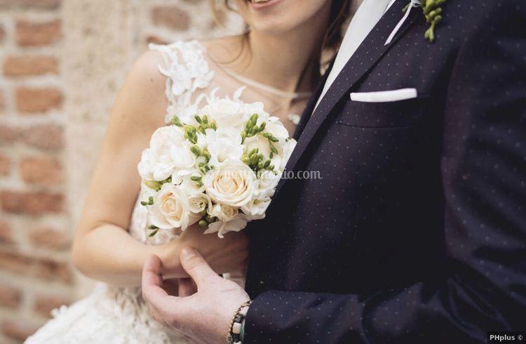 Bouquet rose avorio e fresie