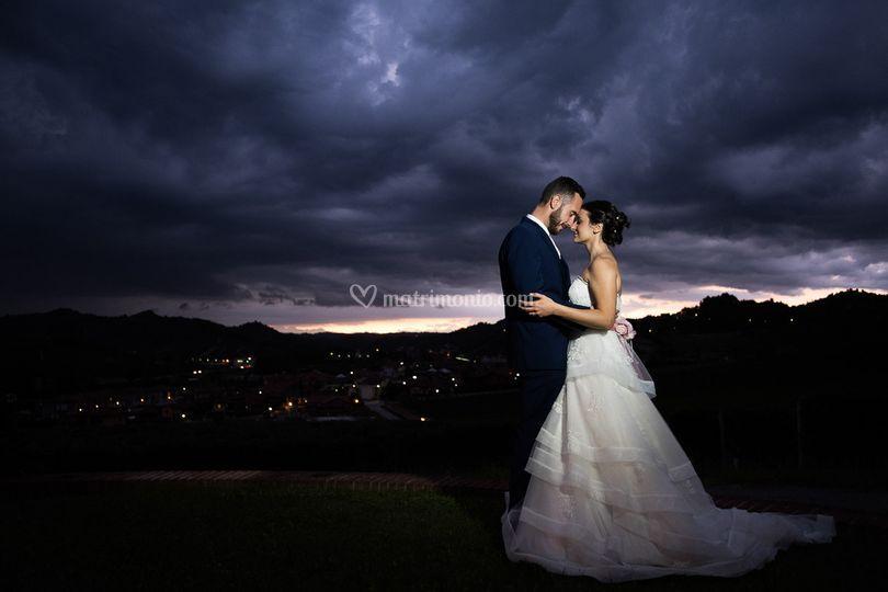 Sposi ed un cielo folgorante