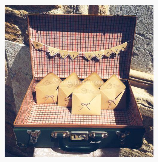 Porta-riso valigia vintage