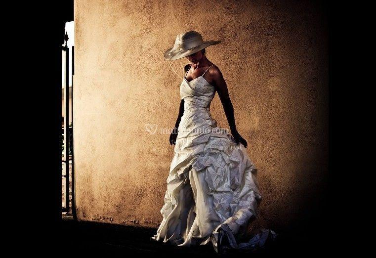 Luce e abito della sposa