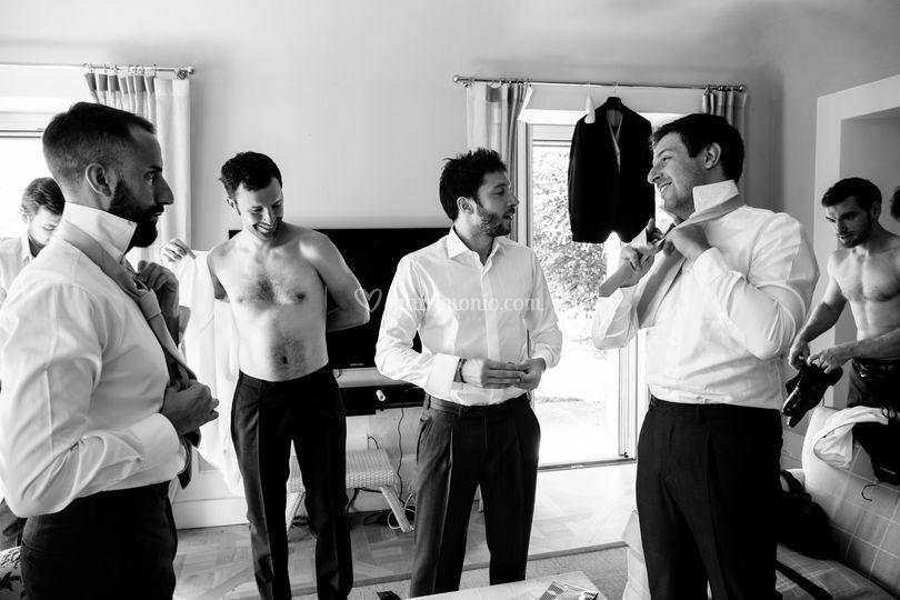 Preparativi sposo, Villa Bodo