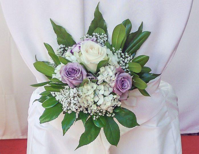 Bouquet sedia sposi