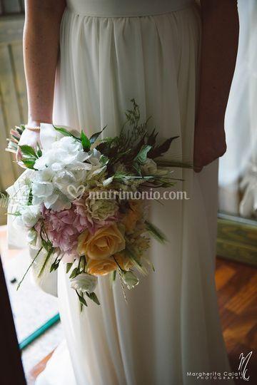 Bouquet peonie e rose.