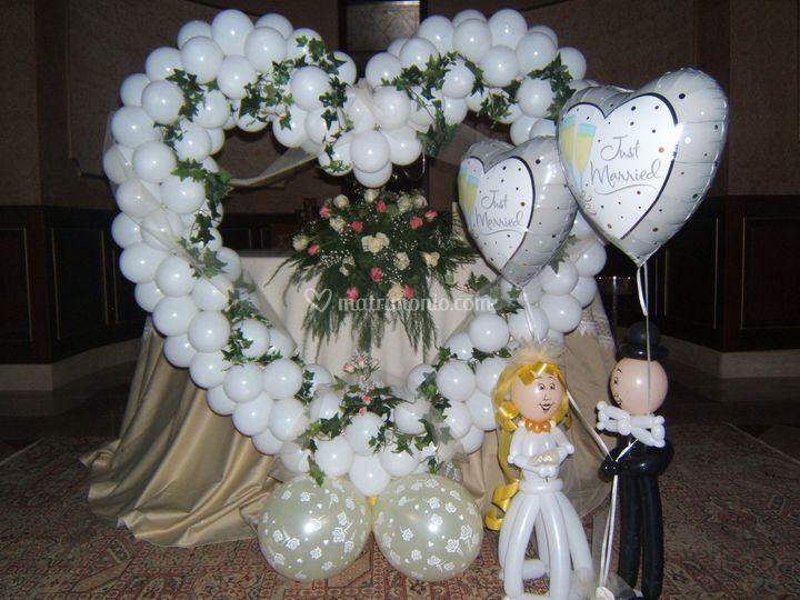 I palloncini di scarabocchio - Decorazioni matrimonio palloncini ...