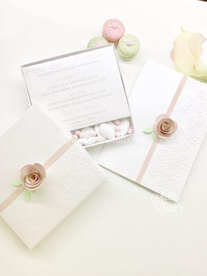 Partecipazione in box  'roses'
