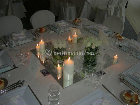 Centro tavolo con candelotti