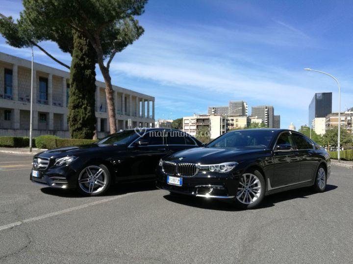 BMW serie 7 e mercedes serie E