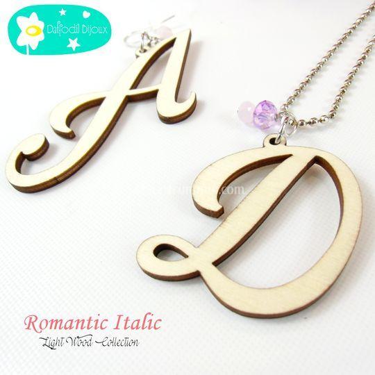 Iniziali Romantic Italic
