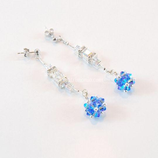 Orecchini Treasure Blue