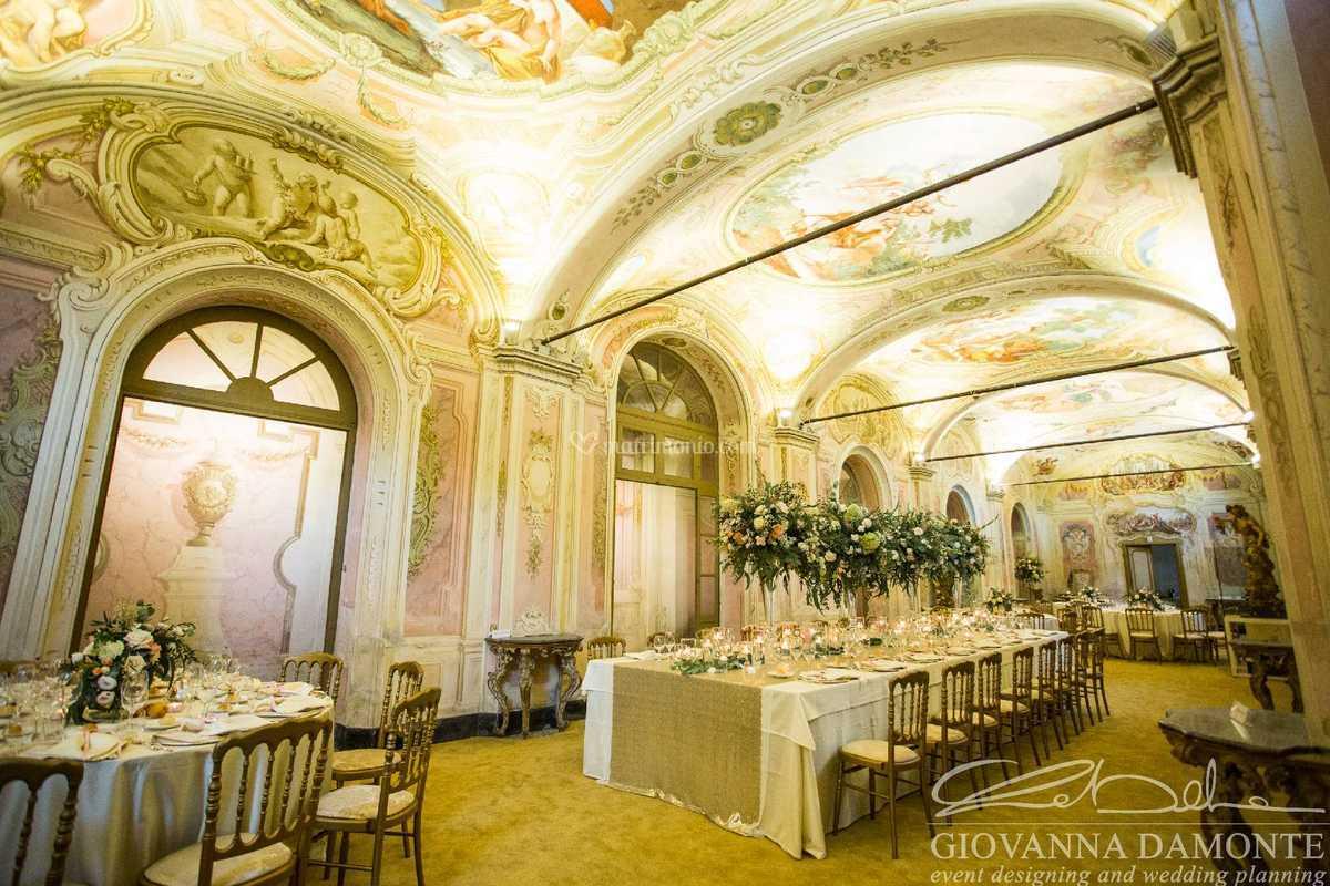 Tavolo imperiale di villa faraggiana foto