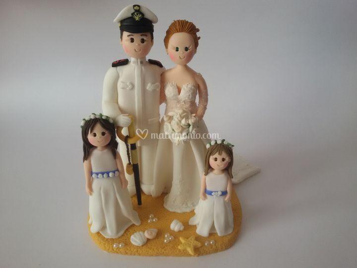 Cake topper marina militare