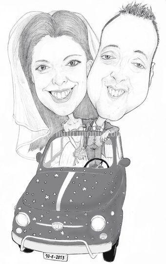 Caricatura sposi
