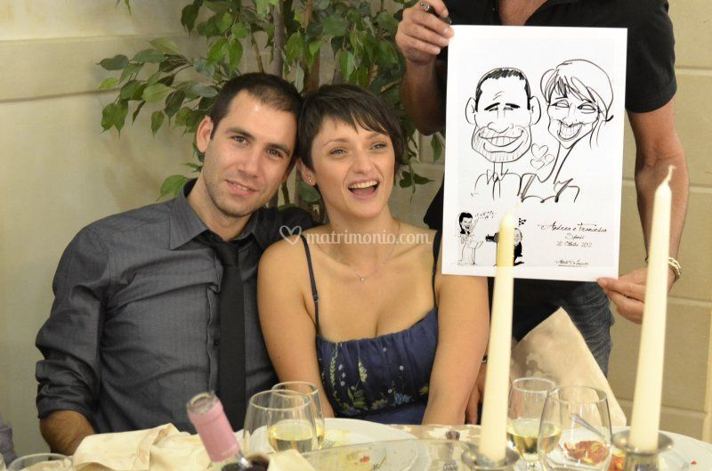 Caricatura di coppia