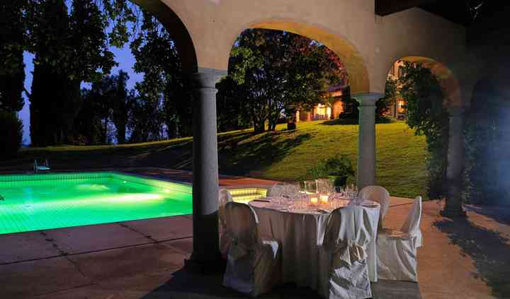 Portico piscina