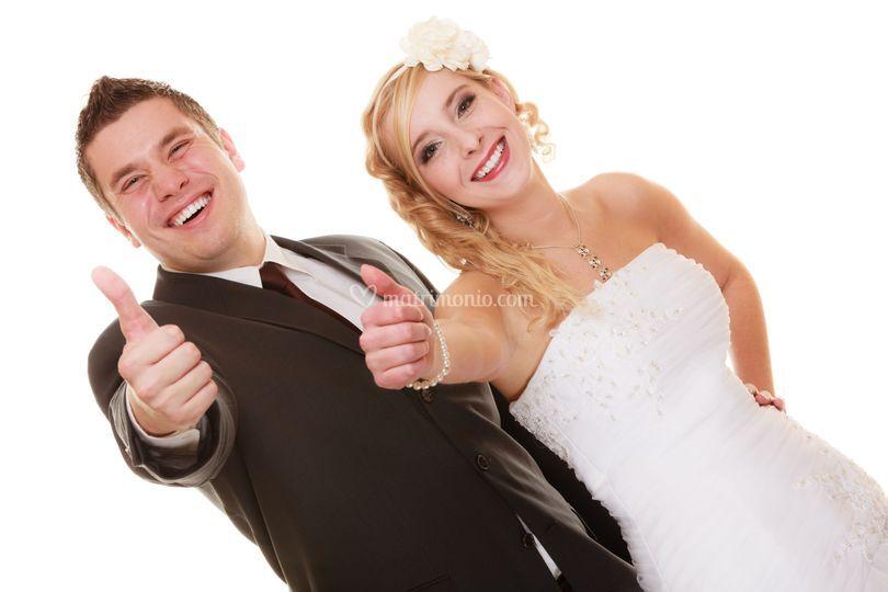 Sposi felici dopo il percorso
