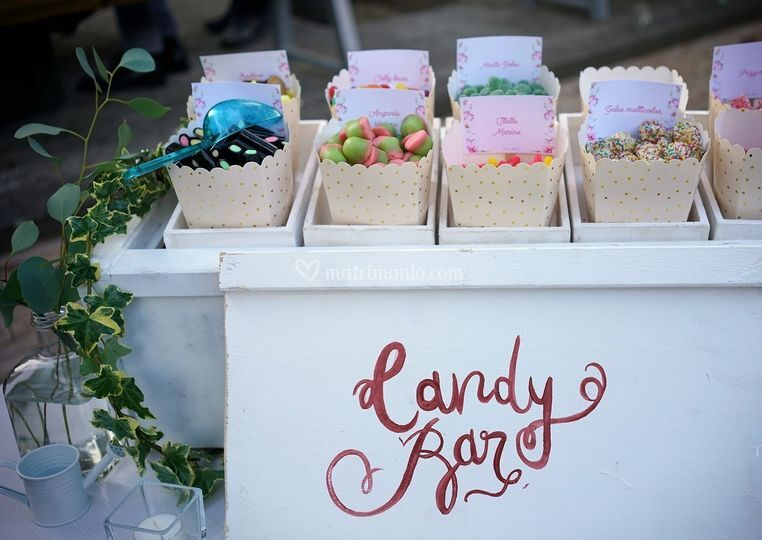 Dettagli di un candy bar