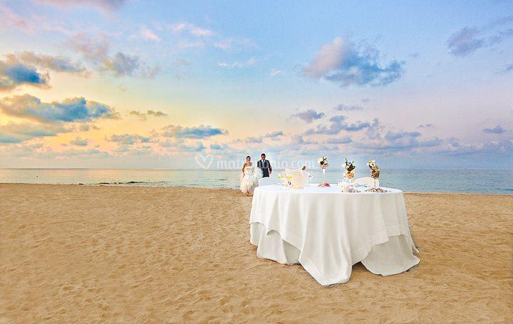 Sala ricevimenti in riva al mare