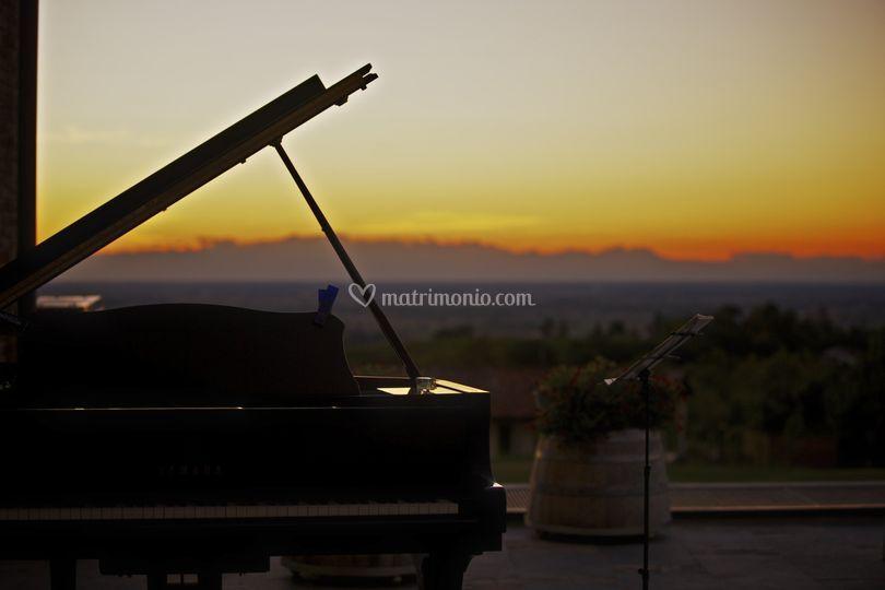 Terrazza con pianoforte a coda