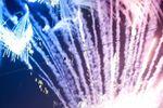 Il buffet finale con fuochi d'artificio della corte del cascinale.