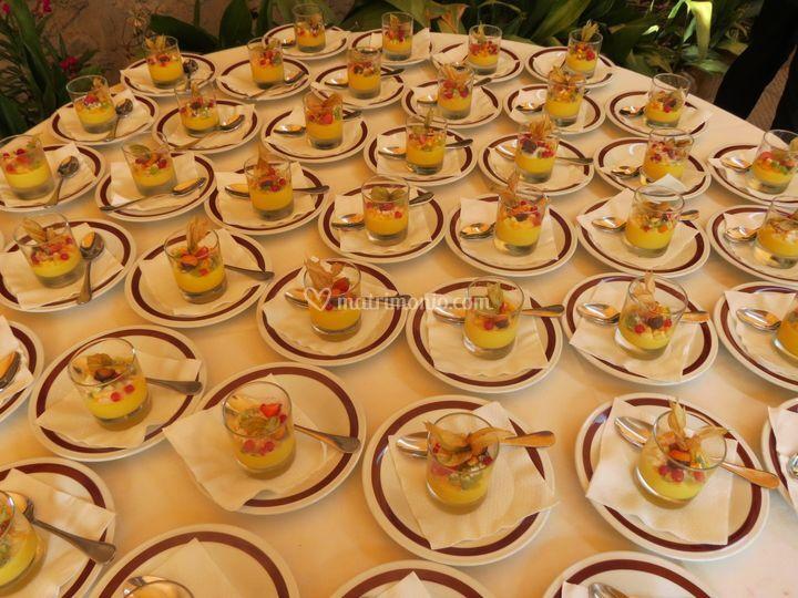 Buffet di dolci: crème brulée