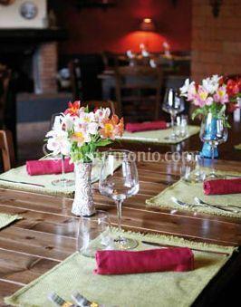 Tavoli con fiori
