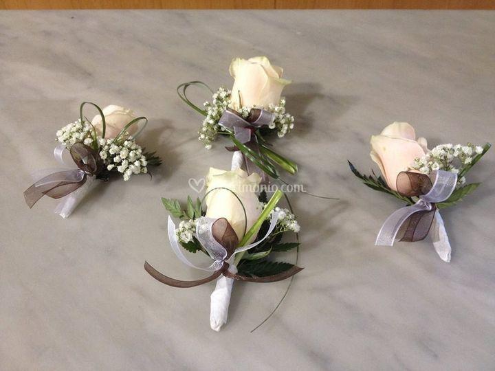 Fiore Matrimonio Uomo : Bottoniere sposo e testimoni di i fiori marilise foto