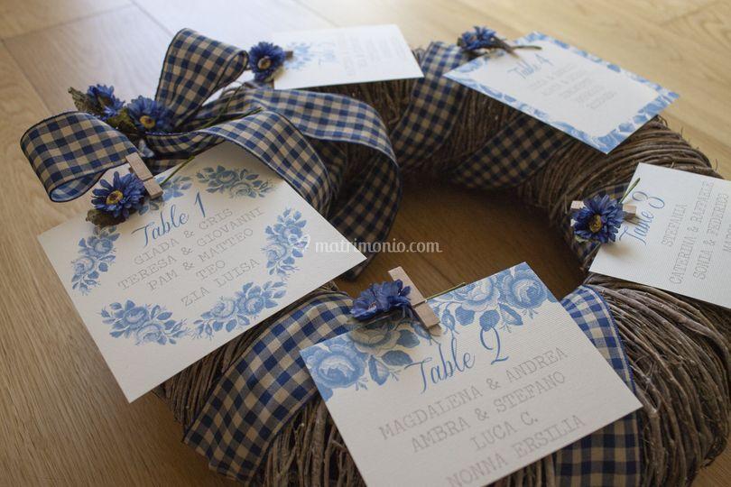 Cartoline con grafica Rose blu