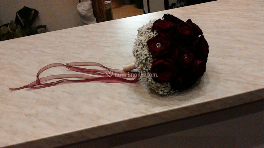 Bouquet romantico con Swarovski