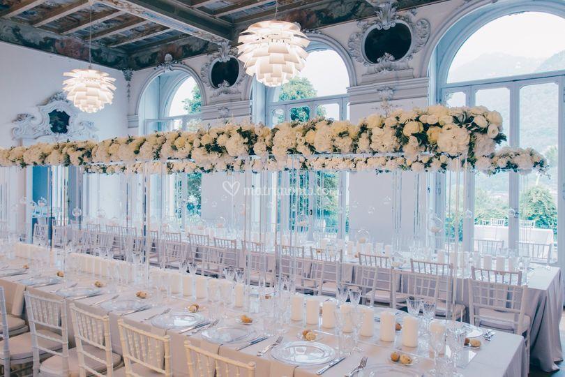 Tavolo imperiale allestito