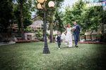 Sposi con figli fotografia