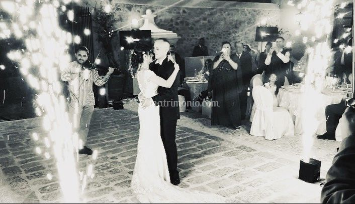 Ballo sposi con fontane