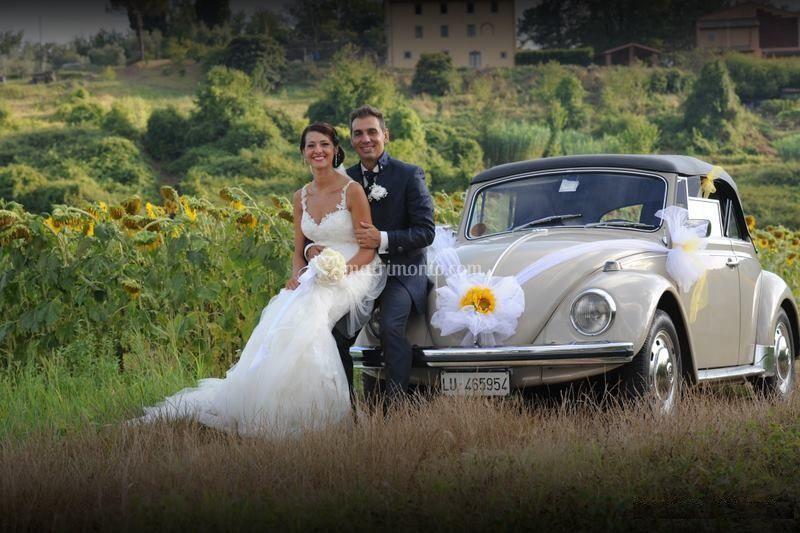 Auto Matrimonio Toscana : Maggiolino cabrio matrimonio in toscana