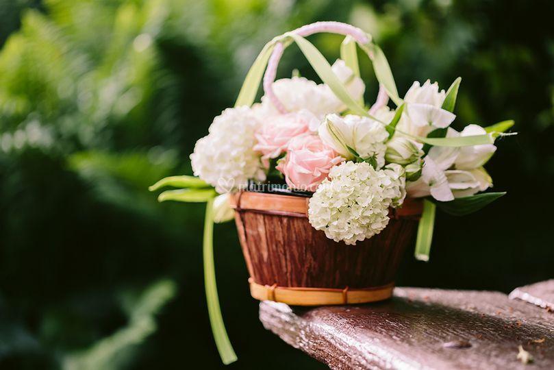 Portafedi fiorito