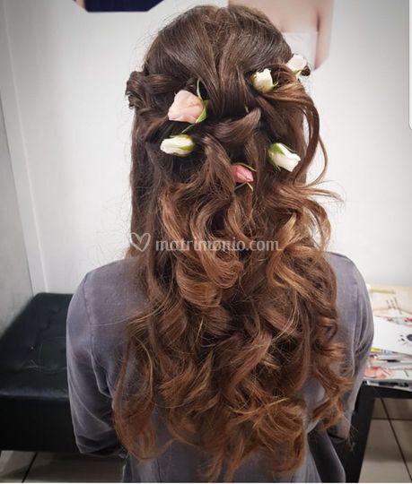 Semiraccolto con fiori veri