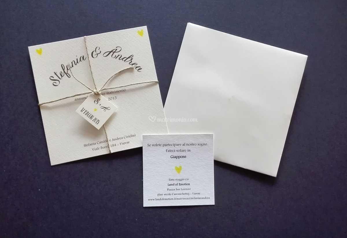 Partecipazioni Matrimonio Varese.Partecipazione Con Cordino Di Ginger Shop C O Copy Shop Foto 26