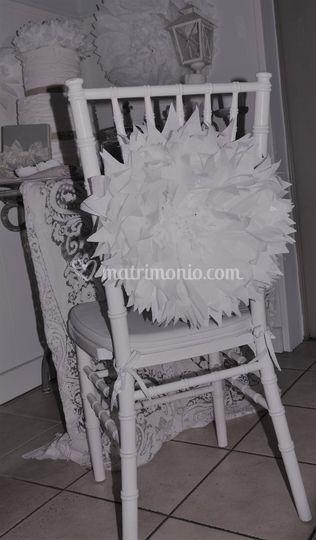 Fiore gigante seduta sposi
