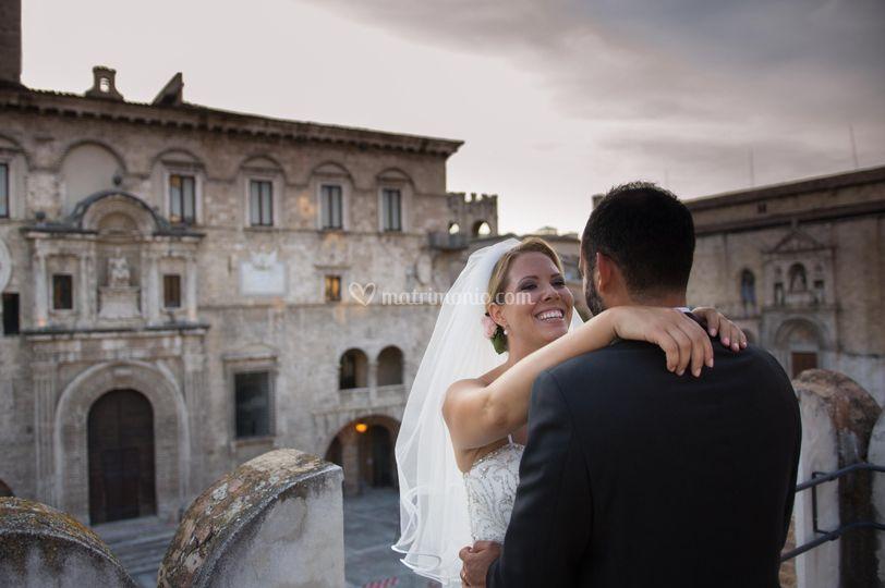 Abbraccio su Piazza del Popolo