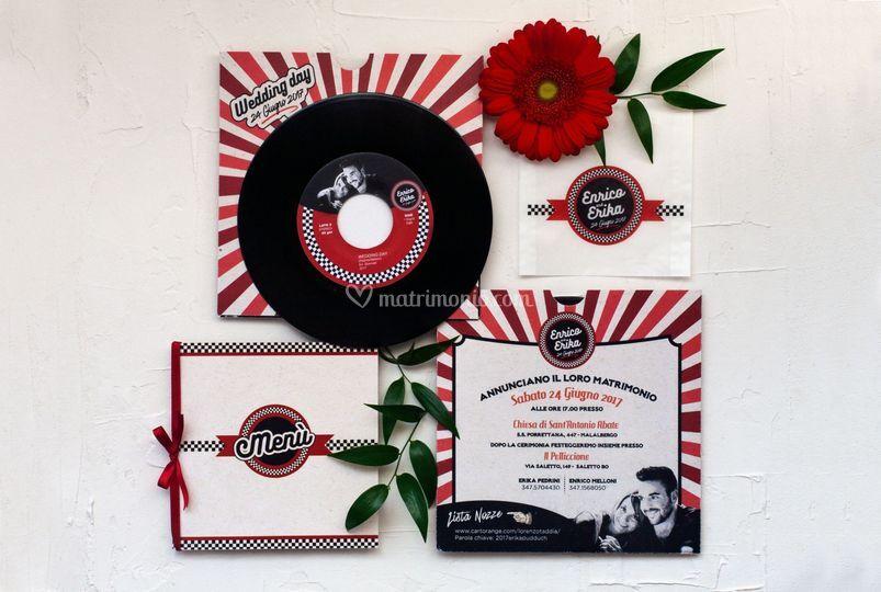 Rockabilly Wedding stationery