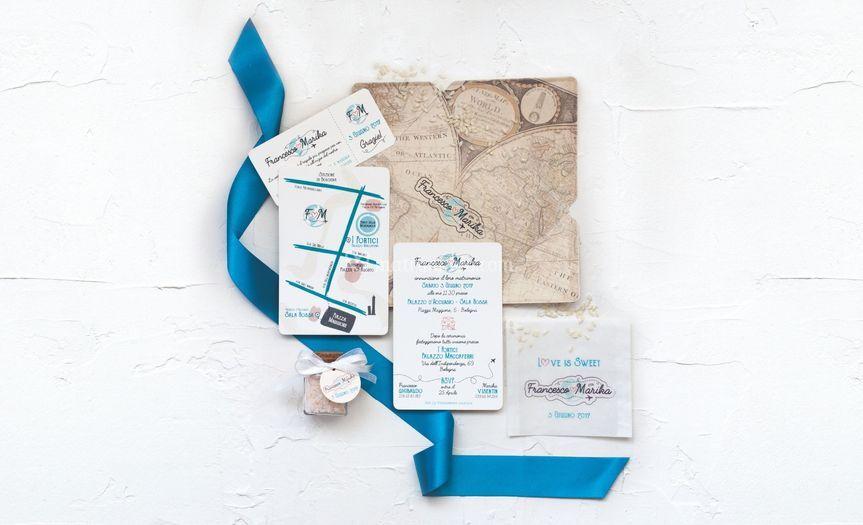 Travel Wedding stationery
