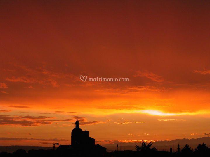 Il tramonto dalla Torre