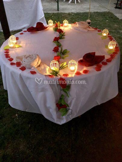Tavolo torta romantic