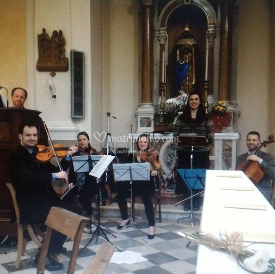 Quartetto d'archi-organo-sopra