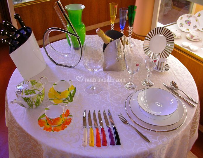 Tavolo per lista di nozze