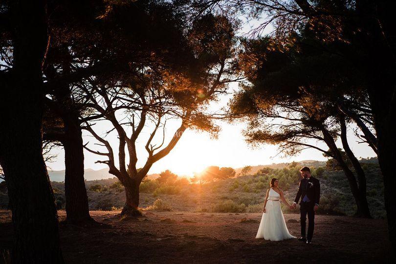 Foto matrimonio tramonto
